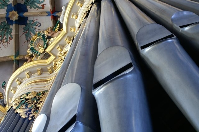 Freiberg Dom Gro·e Orgel von unten